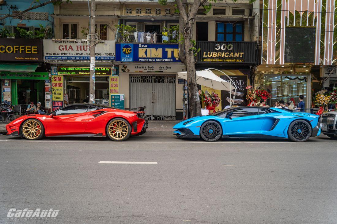 Bộ đôi Lamborghini – Ferrari đình đám nhất Việt Nam đi khai trương cửa hàng trang sức