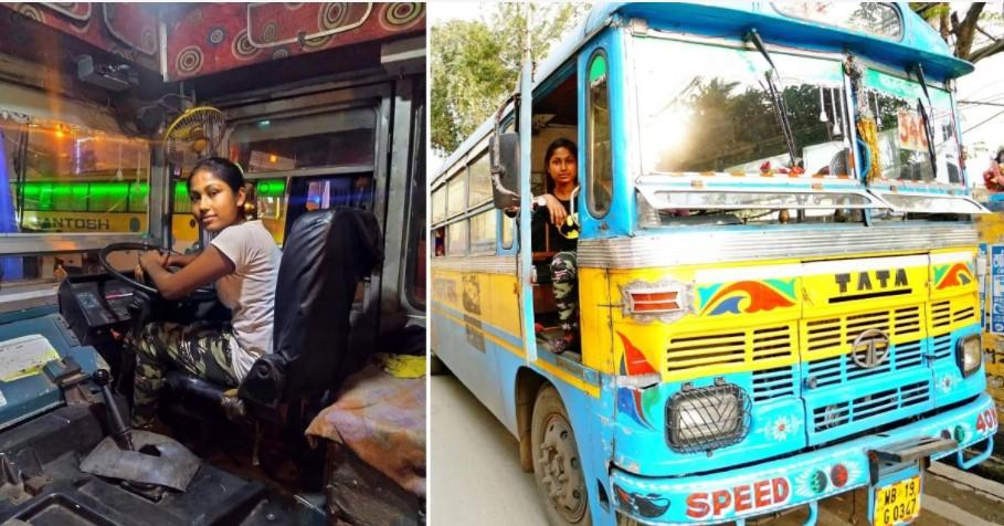 Chuyện lạ: Cô gái trở thành tài xế xe bus ở tuổi 22, biết lái xe từ lúc lên 8