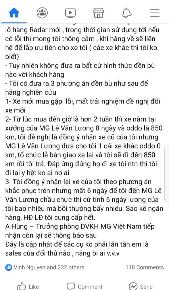chan-nan-vi-mg-hs-2-0-khong-het-loi-du-da-ra-xuong-chu-xe-dua-ra-phuong-an-giai-quyet-song-phang
