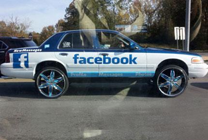 """Chùm ảnh: Xe cũng """"nghiện"""" facebook"""