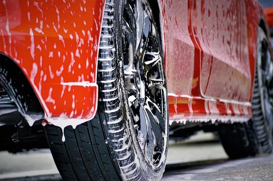 rửa xe 2 xô