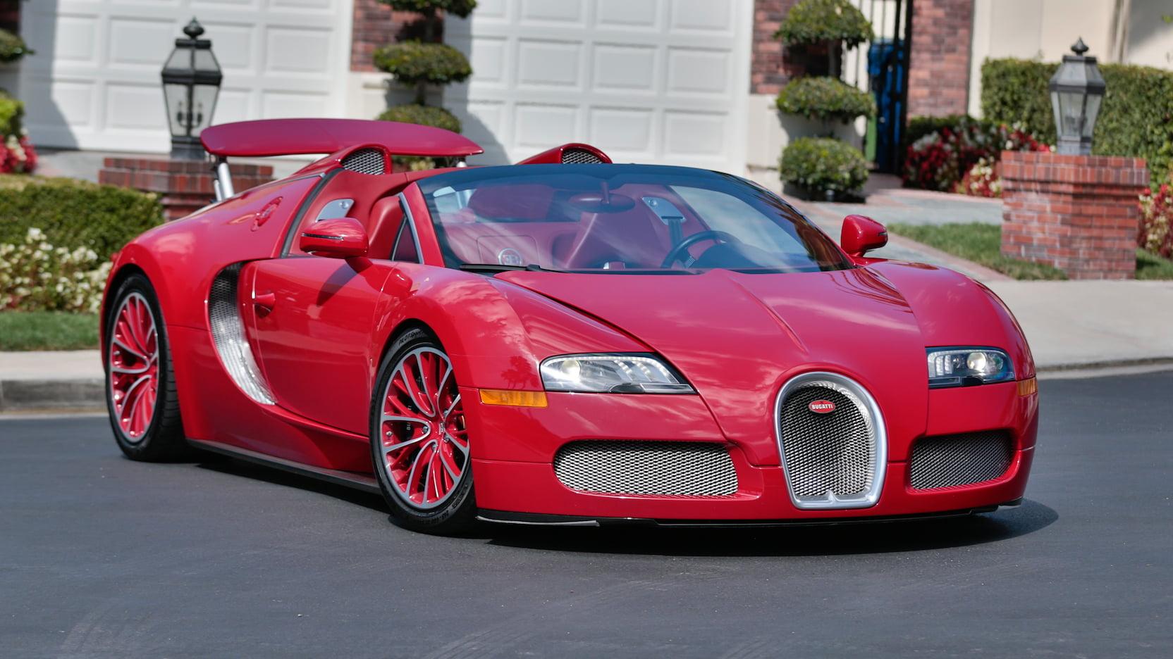 bugatti veyron grand sport red edition