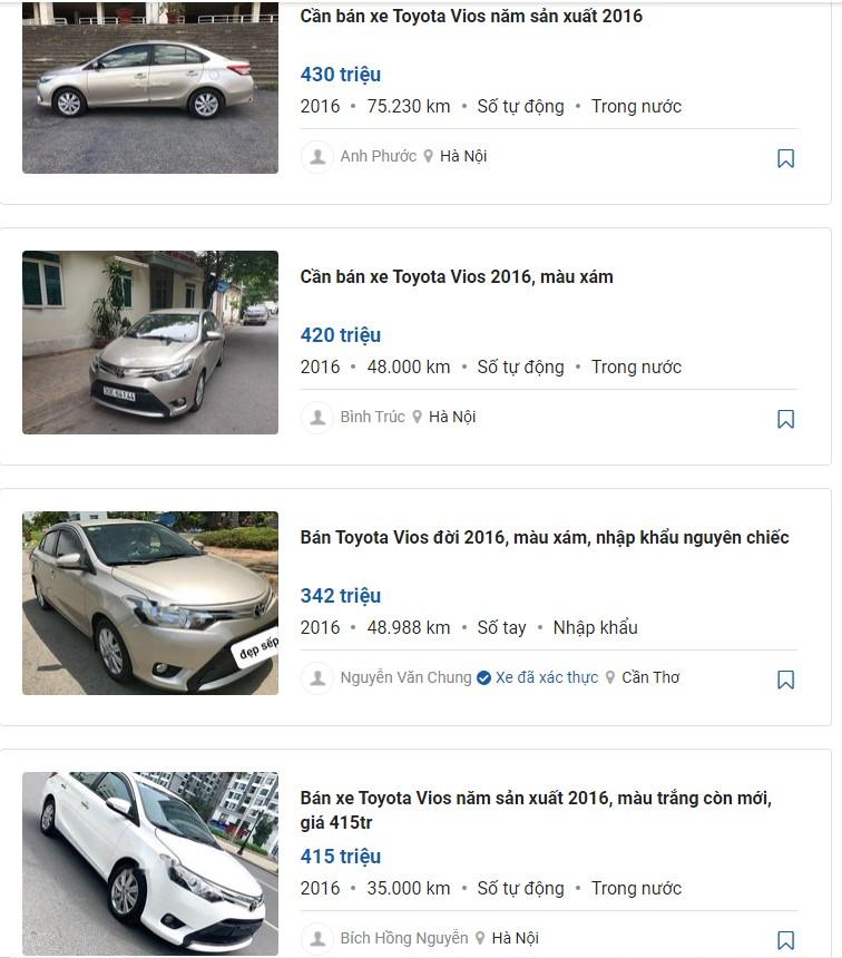 giá xe vios