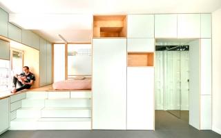 Căn hộ nhỏ hóa lớn với không gian lưu trữ sáng tạo