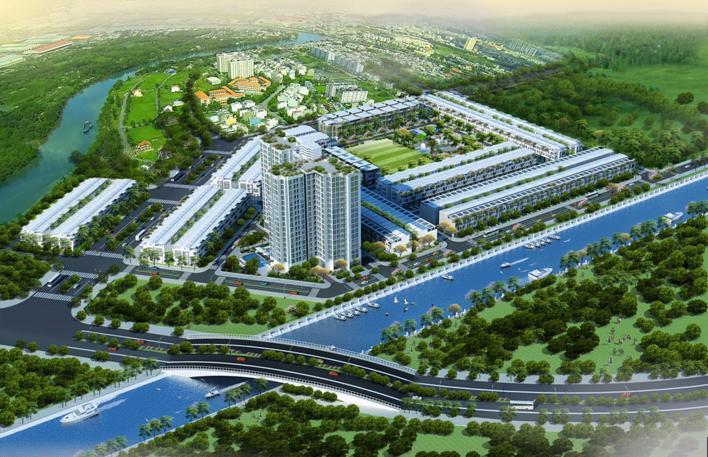 osaka gardenjpg 1383390569 Tổng quan và quy mô khu dân cư sinh thái ven sông Osaka Garden