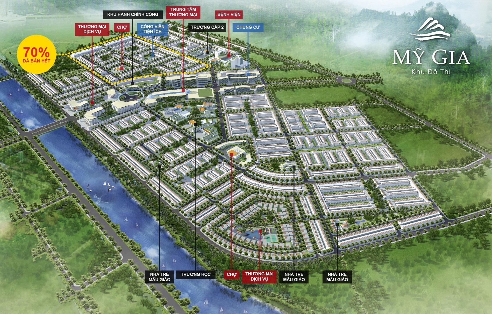 my gia quy hoach tong the 1395391872 Tổng quan và quy mô khu đô thị Mỹ Gia