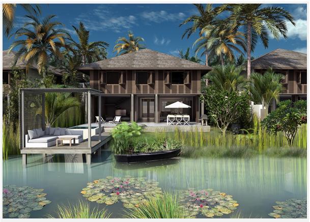 biet thu nuoc sunset sanato phu quoc 1398509126 Tổng quan và quy mô khu du lịch nghỉ dưỡng Sunset Sanato