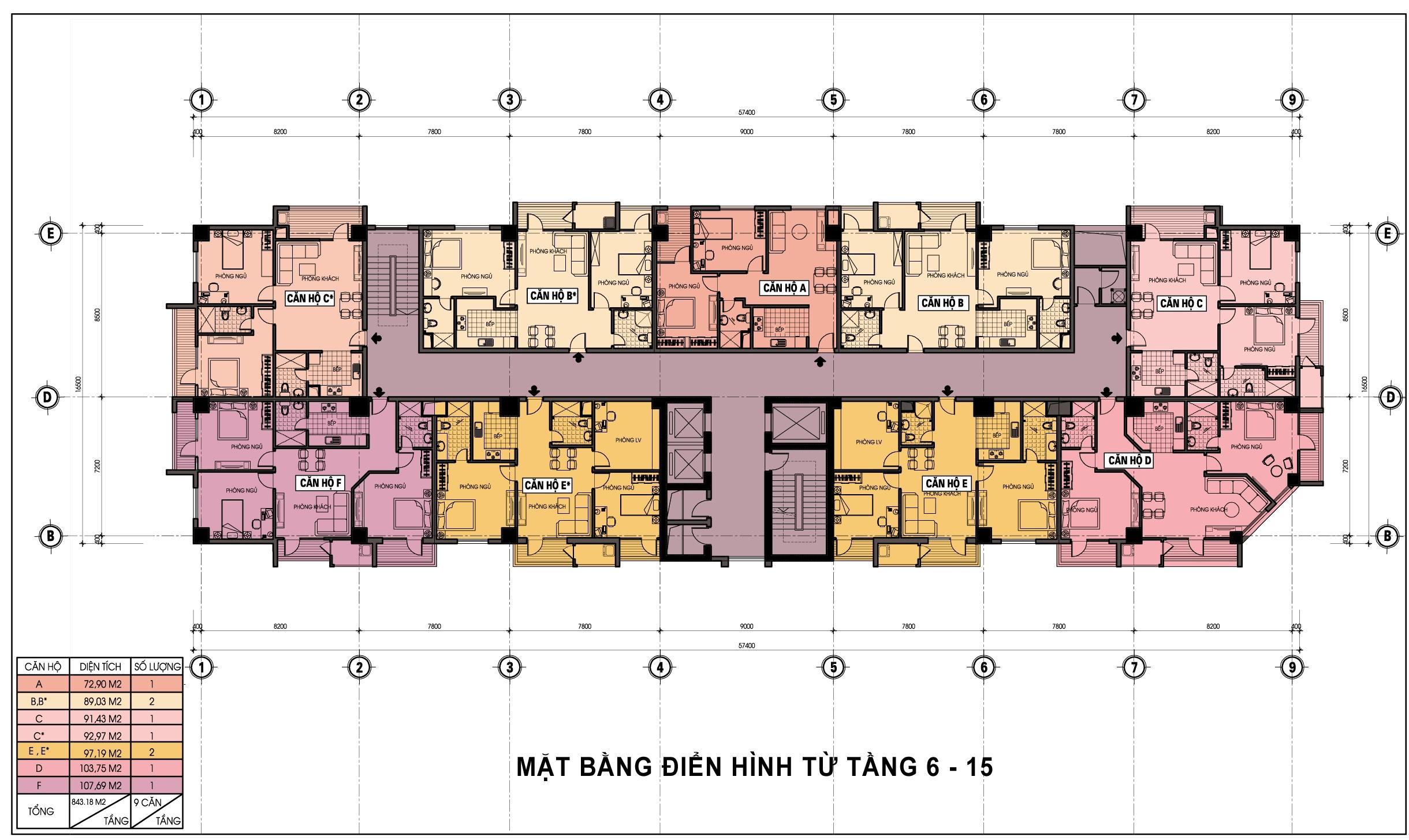 matbangtangdienhinhdiamondblue615 1405096740 Tổng quan và quy mô khu chung cư Diamond Blue