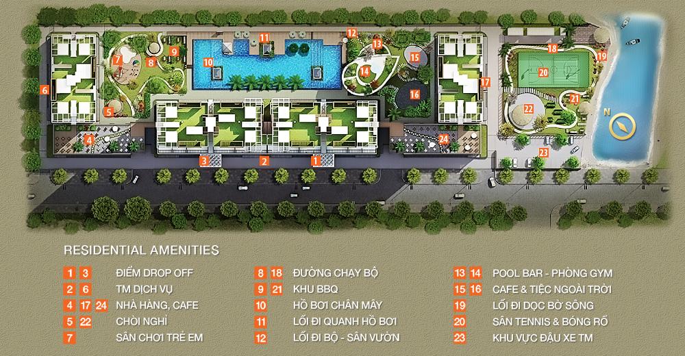 masterplan horizontal 1408124662 Tổng quan và quy mô khu căn hộ The Park Residence