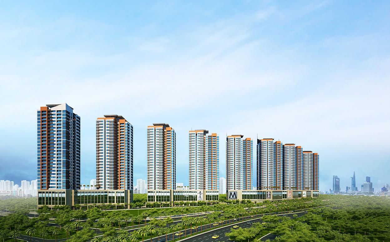 mattruoc 1427475968 Tổng quan và quy mô khu căn hộ The Sun Avenue