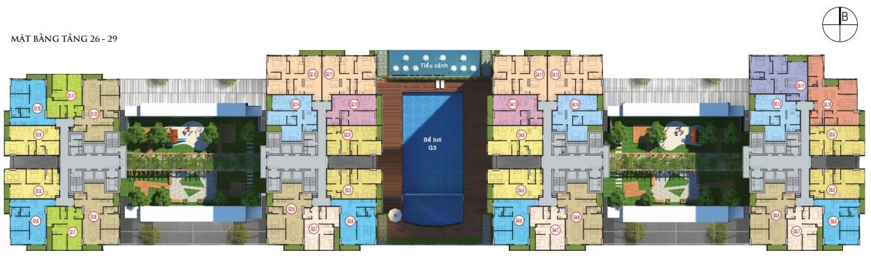 matbangdienhinhtang2629 1434728410 Tổng quan và quy mô khu căn hộ Five Star Garden