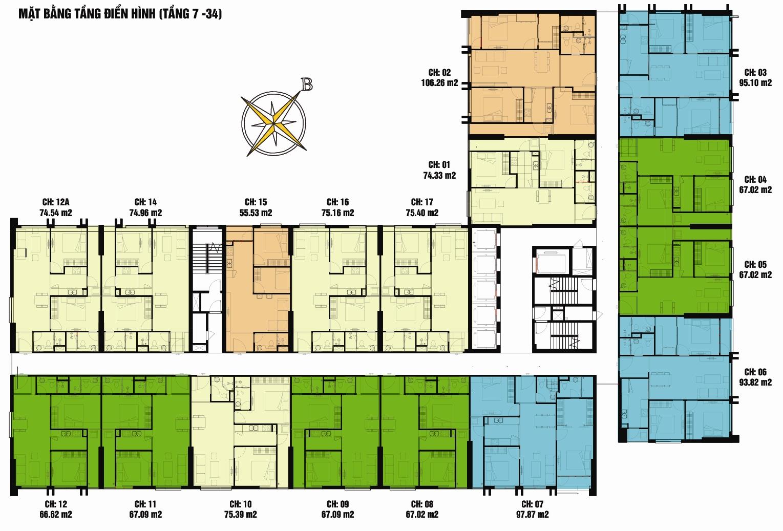 eco green citymatbang 1435860114 Tổng quan và quy mô khu phức hợp Eco Green City