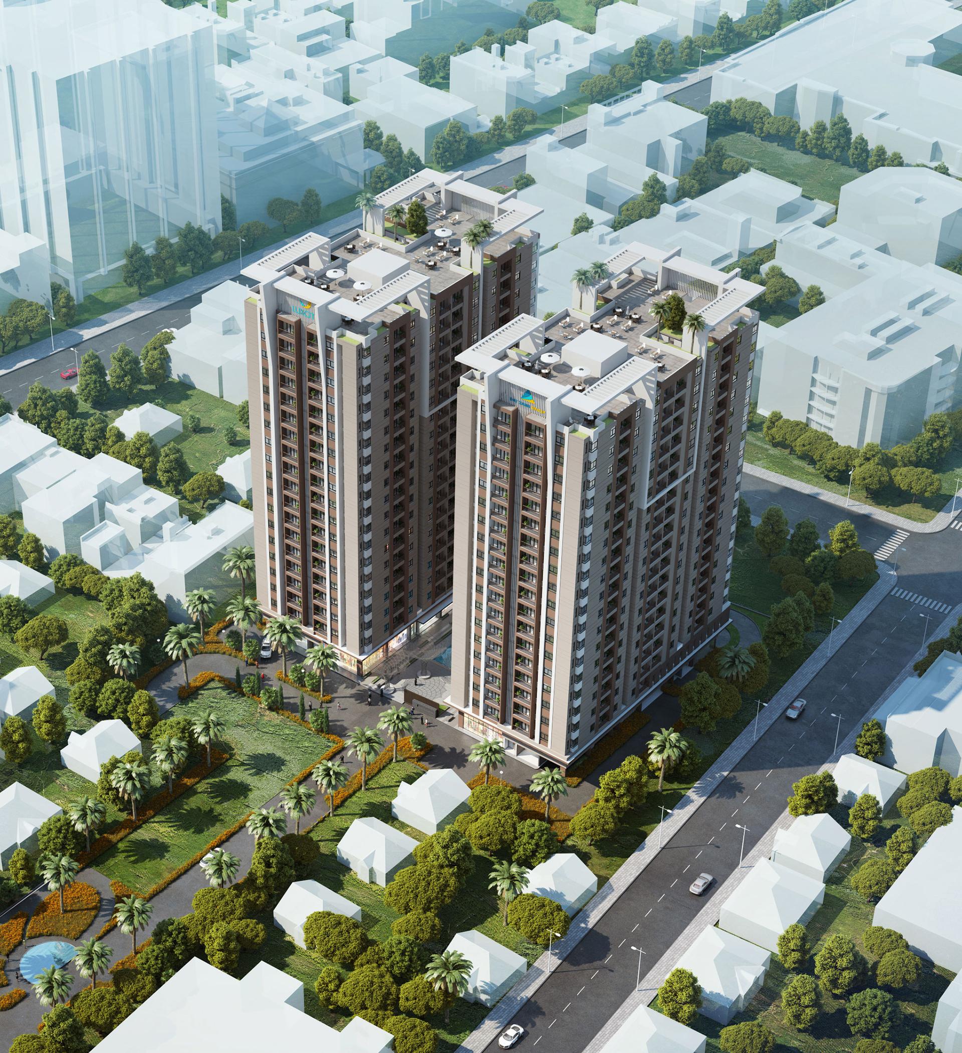 luxcity 1443864537 Tồng quan và quy mô khu căn hộ thương mại Luxcity