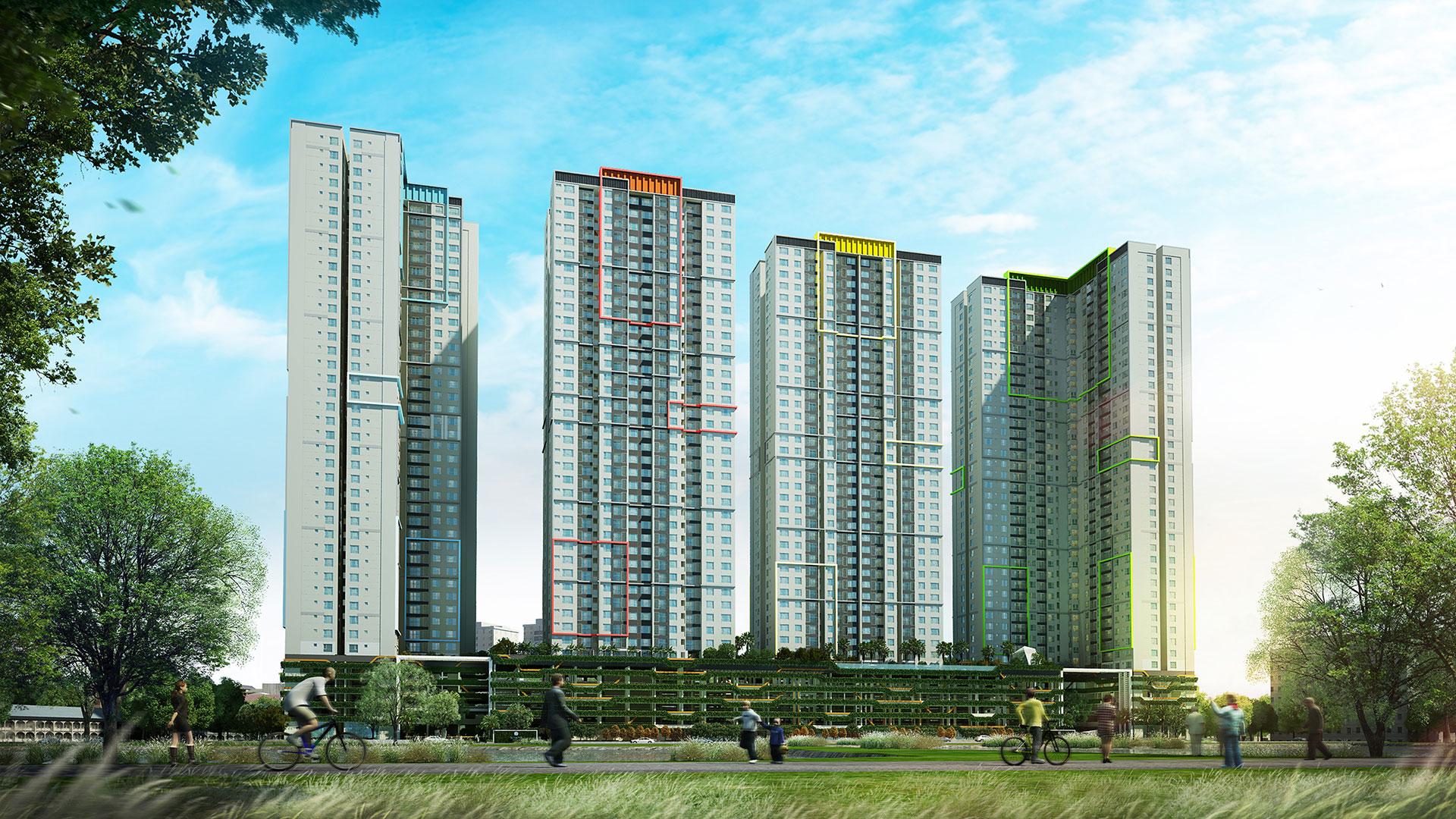 Quy mô dự án chung cư Seasons Avenue Mỗ Lao