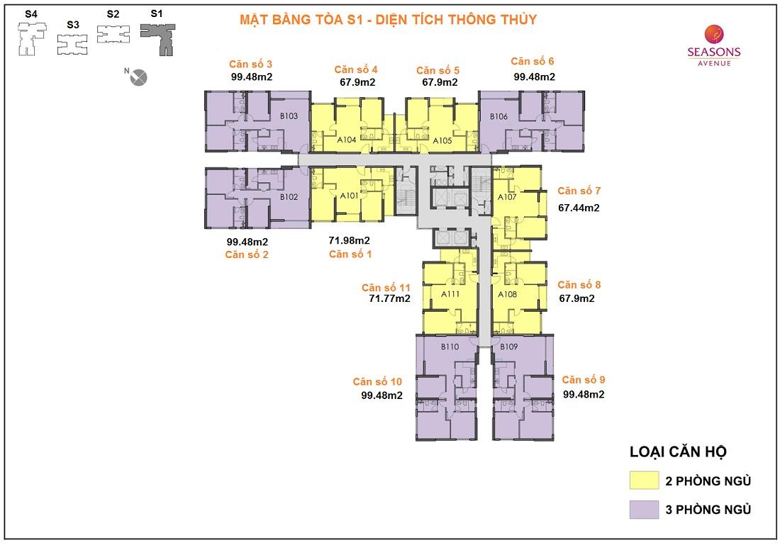 seasons avenuematbang 1446894560 Tồng quan và quy mô khu căn hộ Seasons Avenue