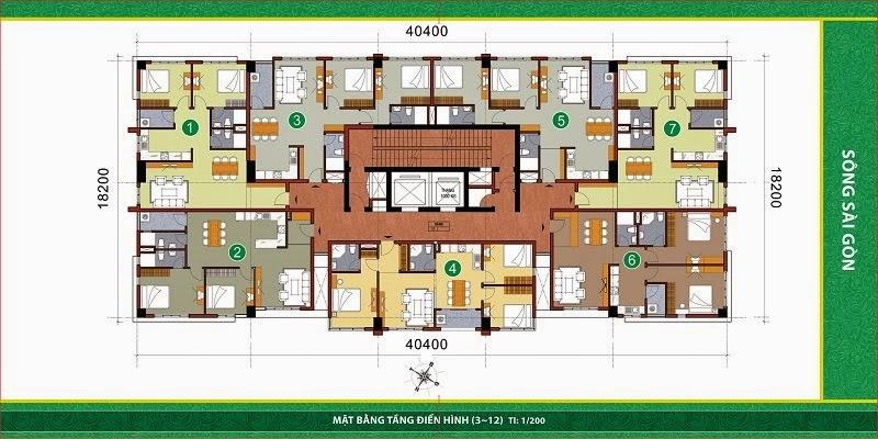 can ho 1459765188 Tổng quan và quy mô khu căn hộ Samland Riverview