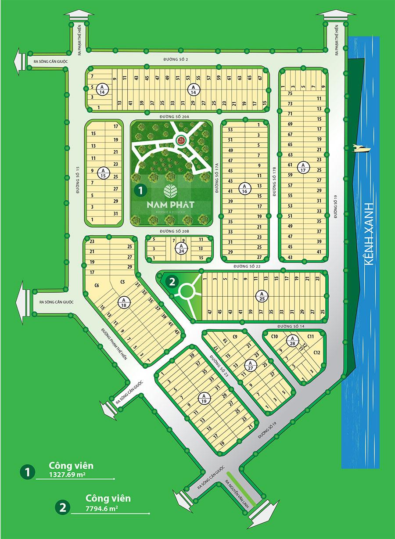 dkraduankhunhaovensongnamphatmatbang 1460739990 Tổng quan và quy mô khu nhà ở ven sông Nam Phát