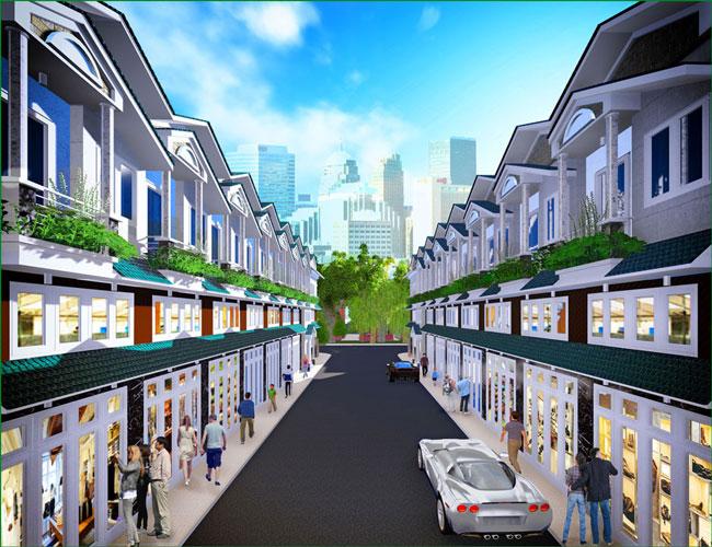 thuong mai 1460201198 Tổng quan và quy mô khu nhà phố thương mại Phú Xuân 6