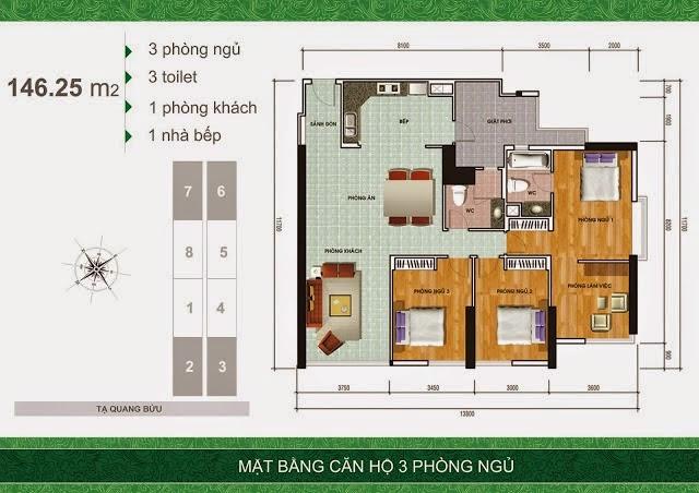 3pn 1460993894 Tổng quan và quy mô khu căn hộ cao cấp Samland Giai Việt