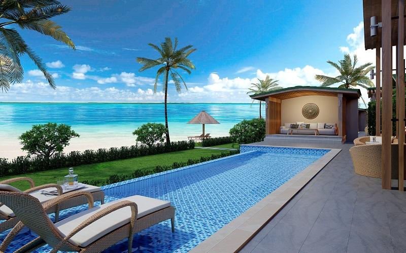 hồ bơi dự án Mövenpick Cam Ranh Resort
