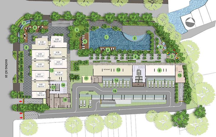 Mặt bằng dự án căn hộ Opal Garden thủ đức
