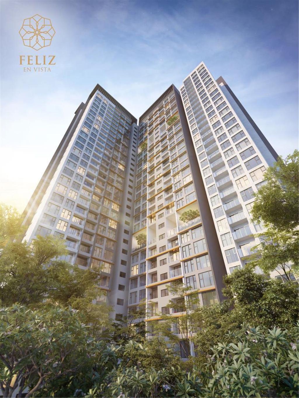 Phối cảnh tòa Cruz dự án Feliz En Vista