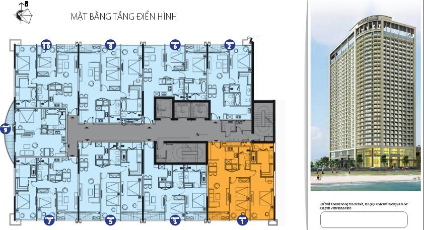 mat bang can ho 1478789500 Tổng quan dụ án tổ hợp Four Points by Sheraton & Luxury Apartment Đà Nẵng