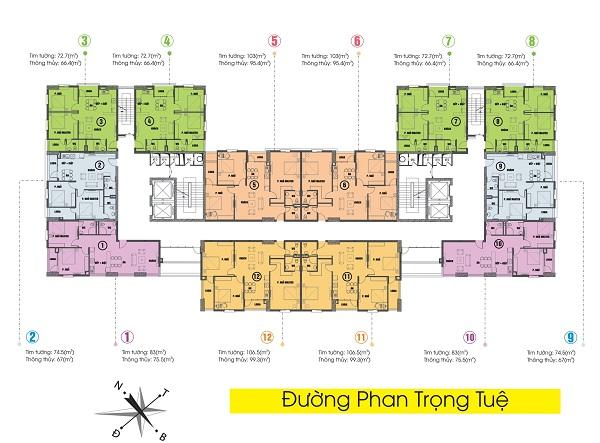 mat abng 1480349439 Tổng quan dụ án khu dự án Tabudec Plaza