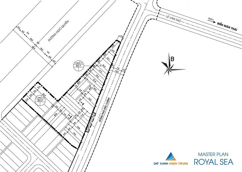 master plan 1480686069 Tổng quan và quy mô khu nhà phố Royal Sea