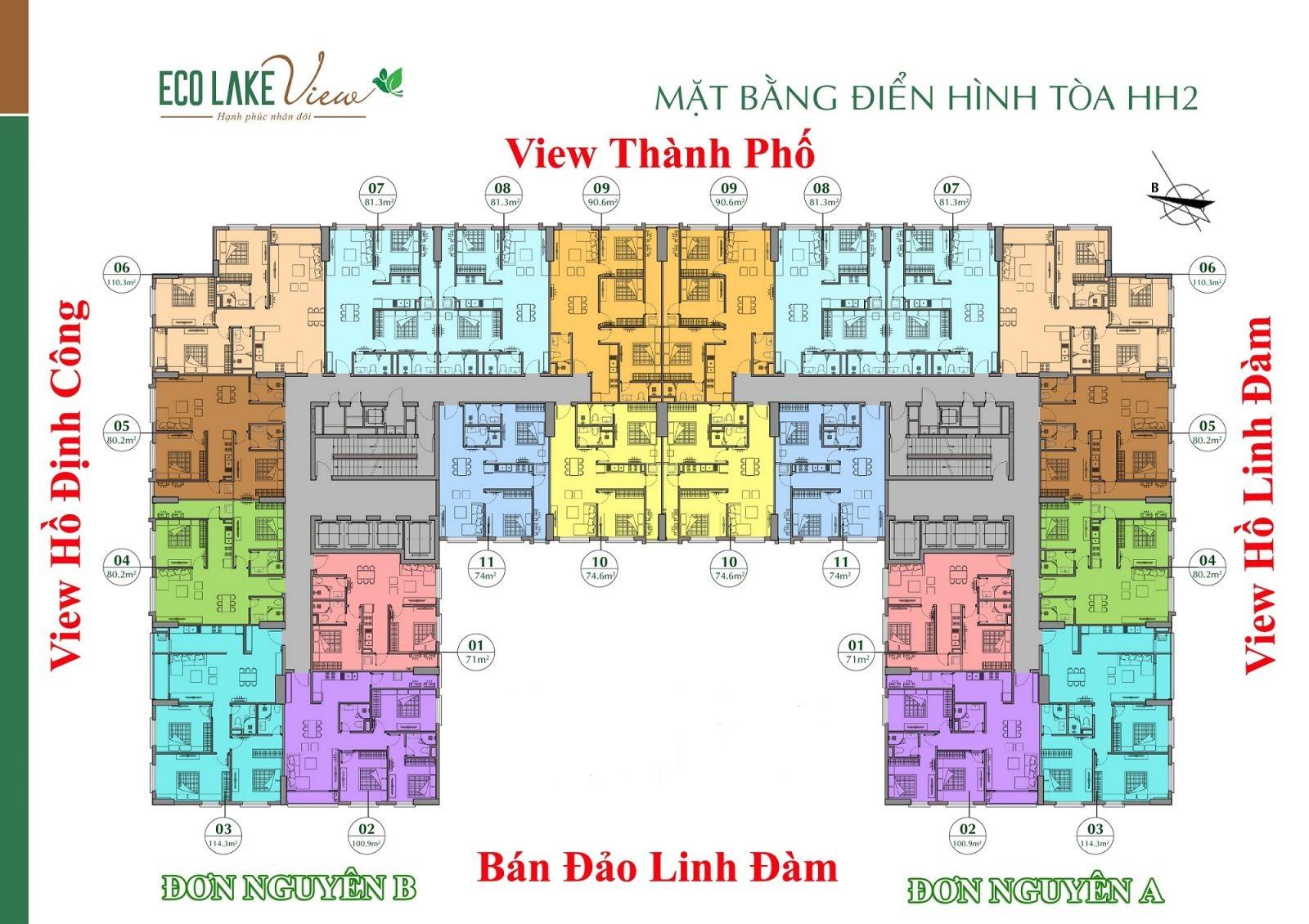 Bản đồ dự án căn hộ Eco Lake View Đại Từ