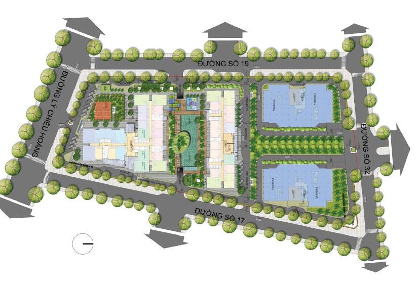 Bản đồ dự án căn hộ The Western  Capital