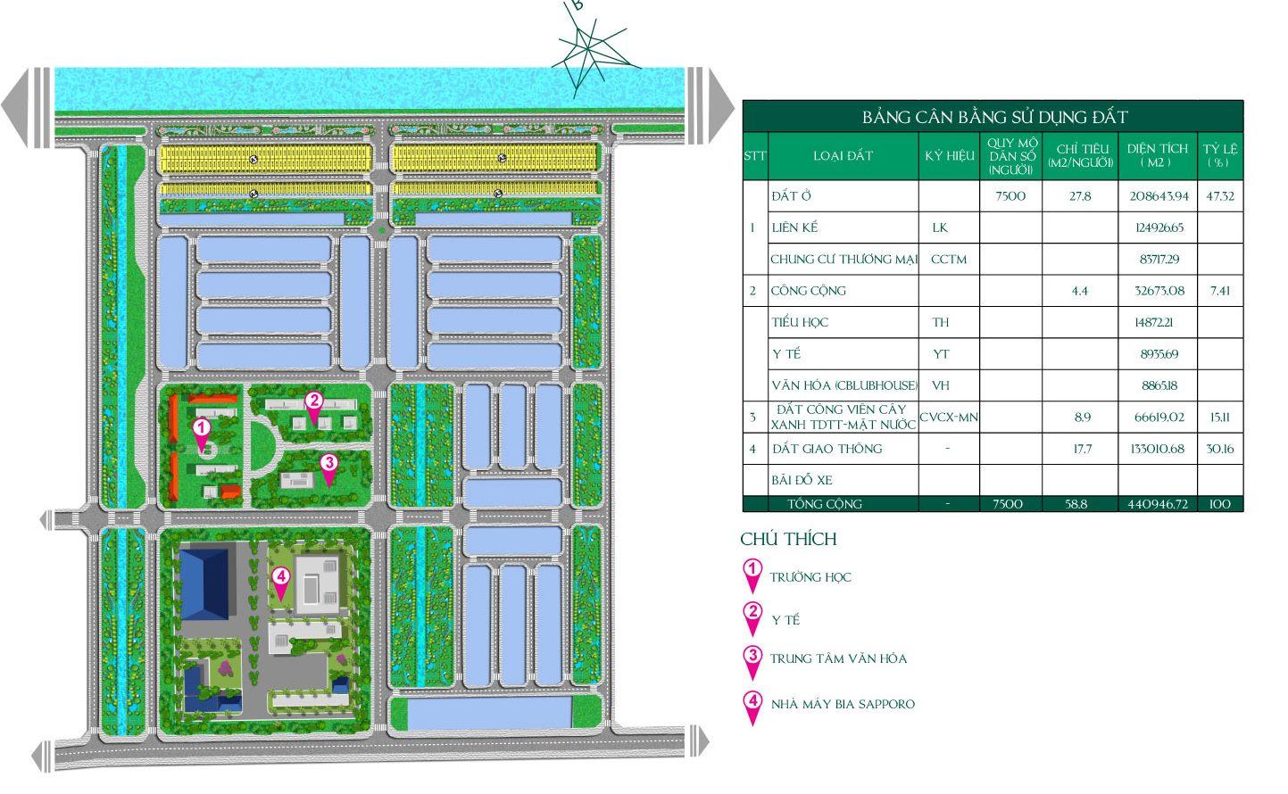 Bản đồ dự án đất nền Vista Land City long an