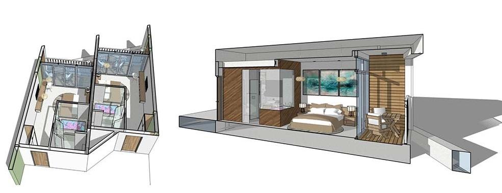 Mô hình căn phòng dự án the arena cam ranh