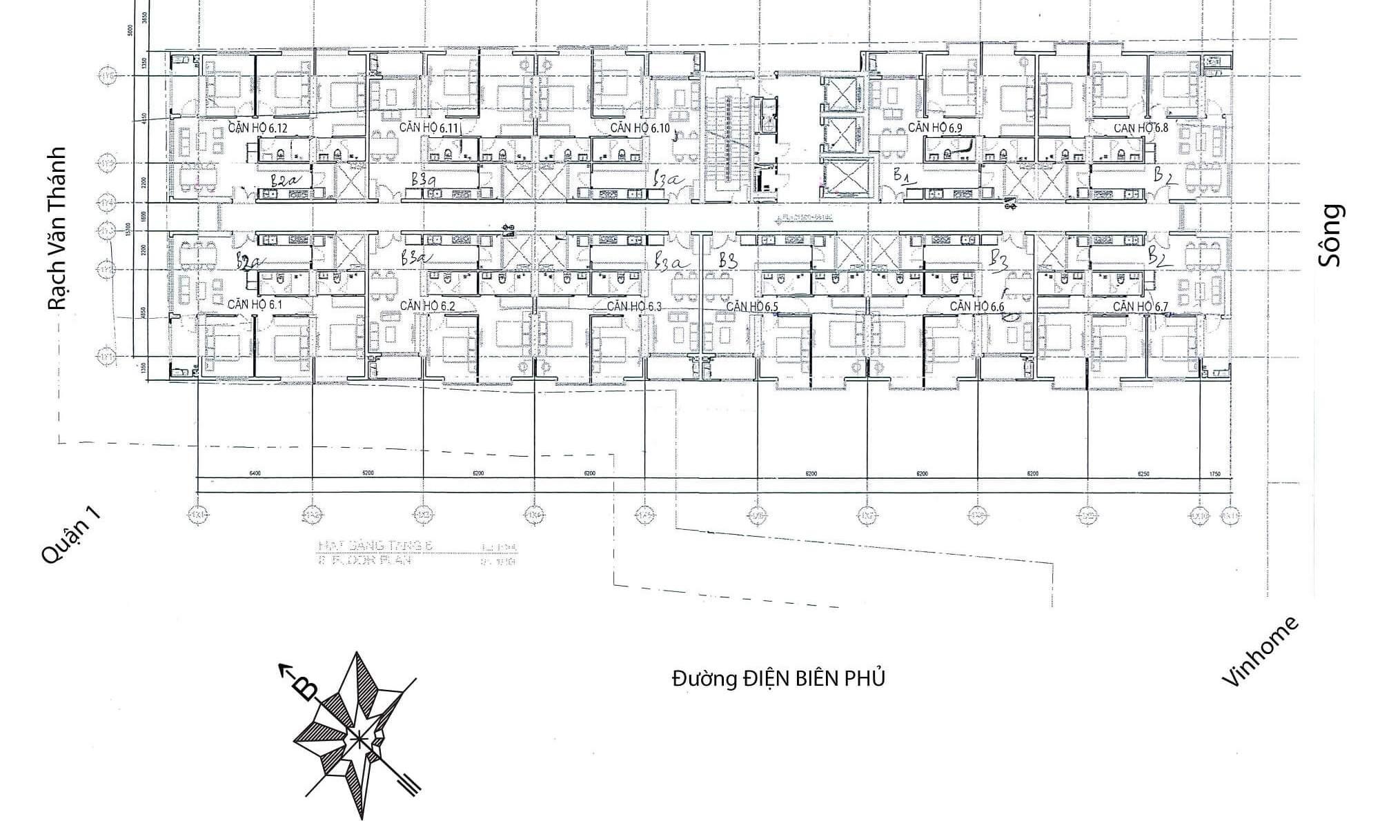 Bản đồ dự án cao ốc 152 điện biên phủ