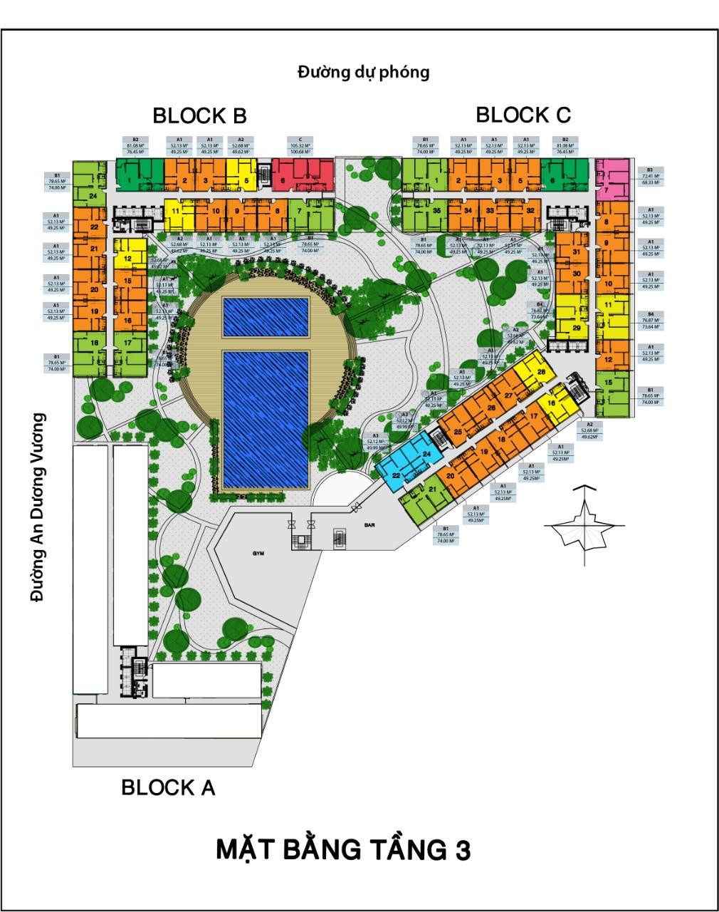 Mặt bằng dự án căn hộ City Gate 3