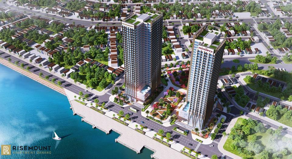 Kết quả hình ảnh cho Thuộc tổ hợp tháp đôi trung tâm thương mại – căn hộ cao cấp 5 sao Movenpick Hotels & Residences – Risemount Apartment Da Nang. Dự án toạ lạc tại đường Bạch Đằng nối dài, trung tâm Quận Hải Châu, thành phố Đà Nẵng. Vị trí đắc địa giữa lòng cực tăng trưởng của kinh tế, văn hoá, du lịch của toàn bộ khu vực miền Trung mang lại cho khu căn hộ cao cấp Risemount Apartment Da Nang lợi thế thương mại hiếm có. Chủ đầu tư là Công ty cổ phần xây dựng và quản lý nhà An Trung Phát. Nhà thầu AHA vinh dự là nhà thầu thi công toàn bộ hệ thống nhôm kính mặt dựng của dự án, với hệ nhôm mặt dựng sử dụng hệ Semi- Unitized giấu đố, kính hộp bán cường lực, công trình đang bắt đầu triển khai và dự kiến sẽ đưa vào sử dụng vào tháng 06/2019.