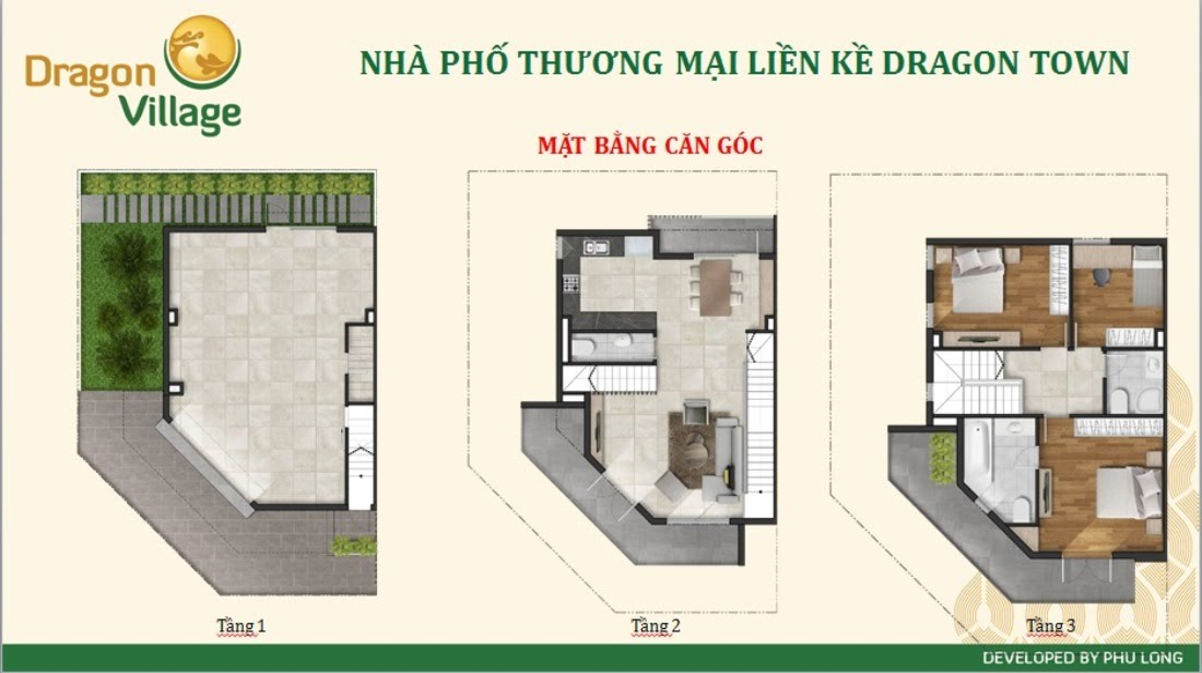 bản vẽ căn hộ Dragon Village quận 9
