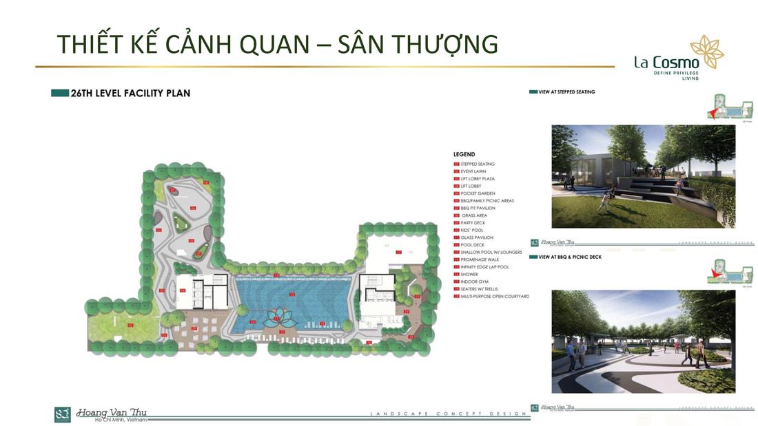 Bản đồ sân thượng dự án căn hộ La Cosmo Tân Bình