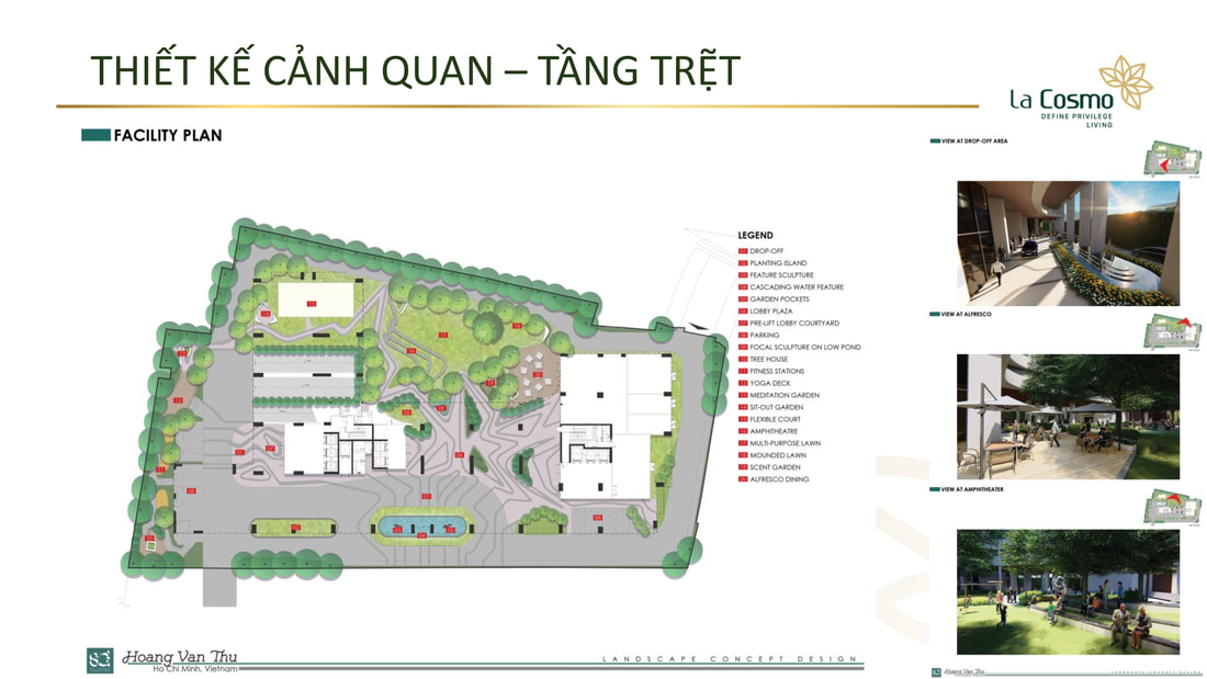 Bản đồ tầng trệt dự án căn hộ La Cosmo Tân Bình