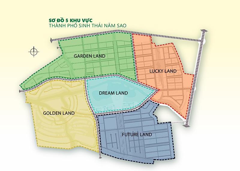 Bản đồ dự án Five Star Eco City Long An