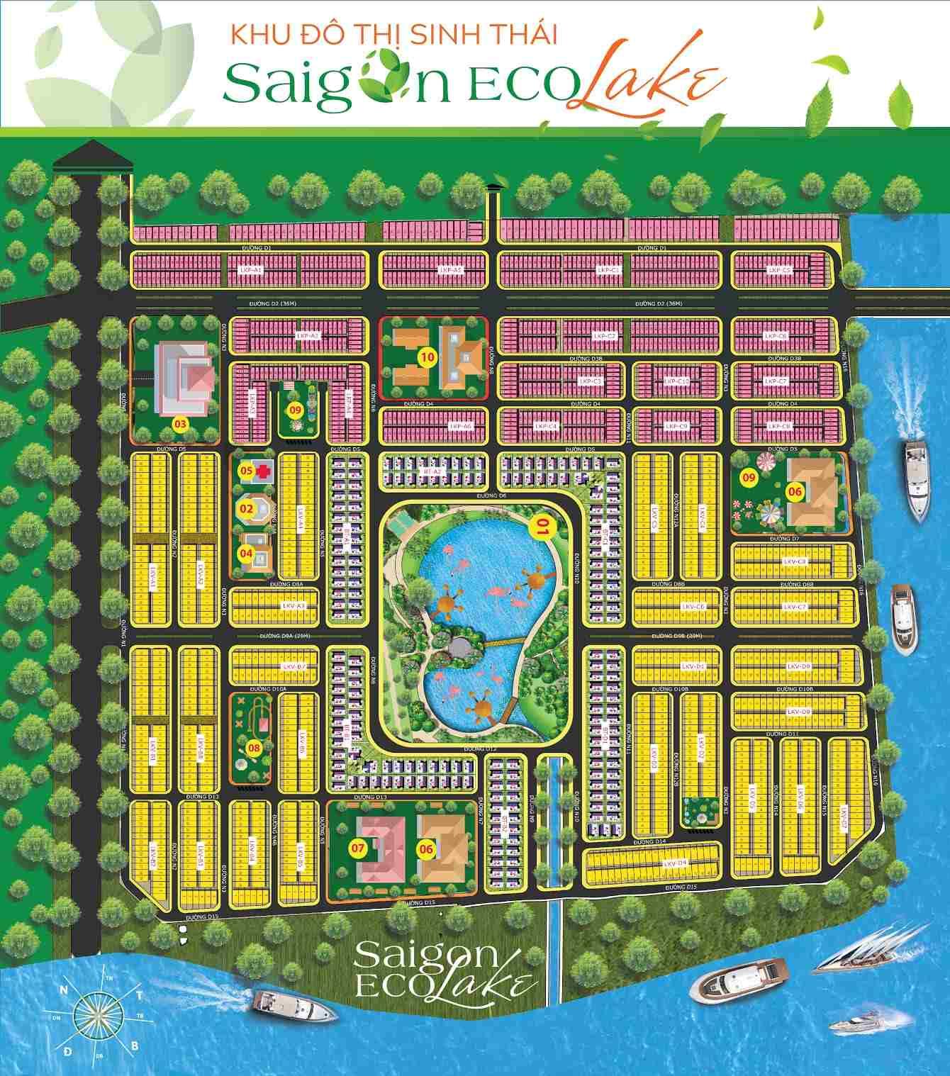 mặt bằng Saigon Eco Lake