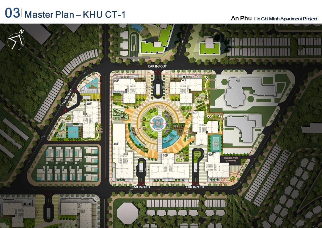 Mặt bằng điển hình khu CT1 thuộc dự án Raemian City quận 2