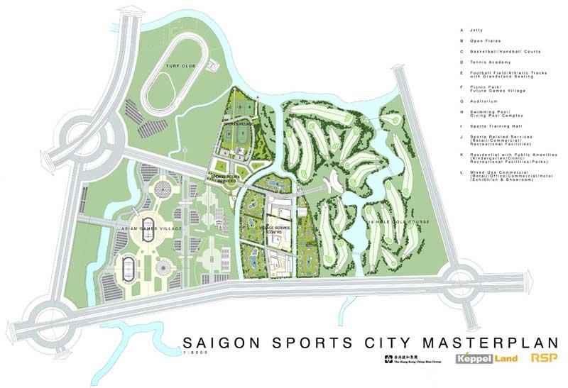 Bản đồ dự án căn hộ Saigon Sports City quận 2