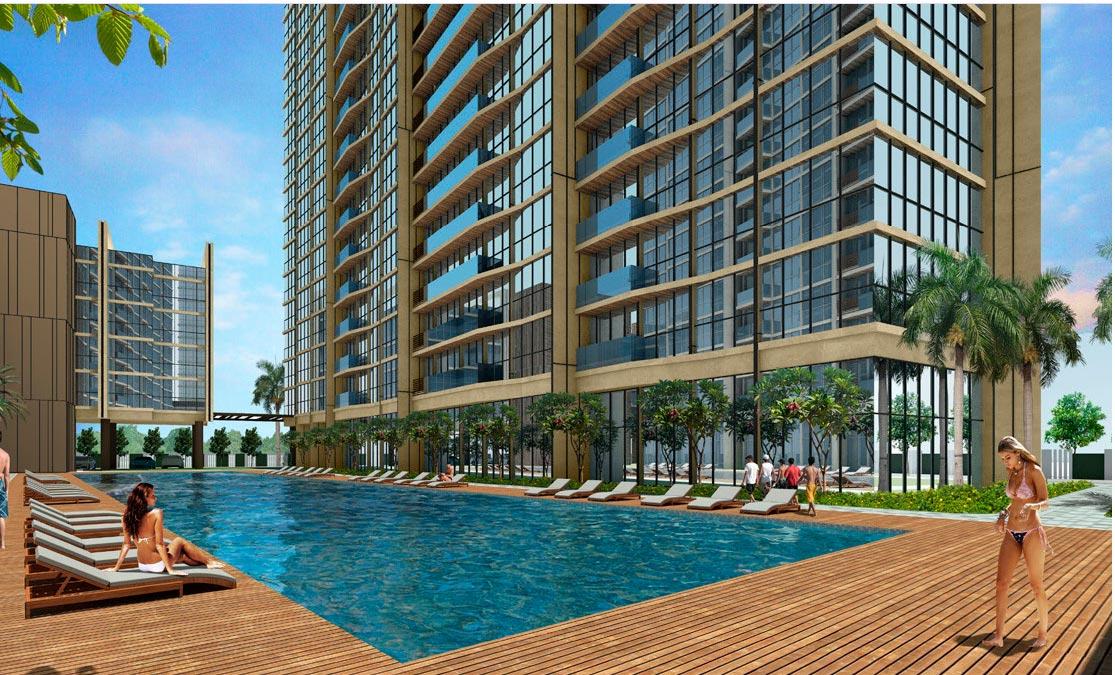 Khuôn viên dự án căn hộ Thủ Thiêm River Park quận 2
