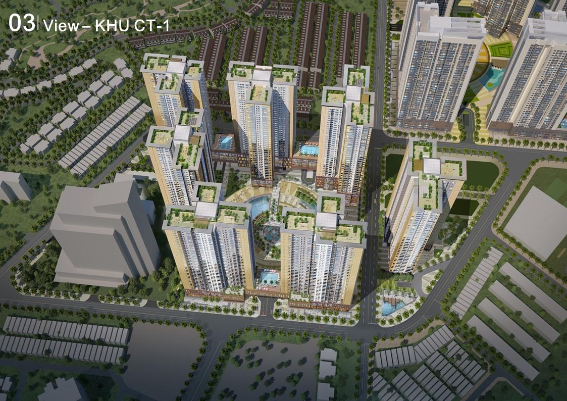 Phối cảnh khu CT1 dự án căn hộ Raemian City quận 2