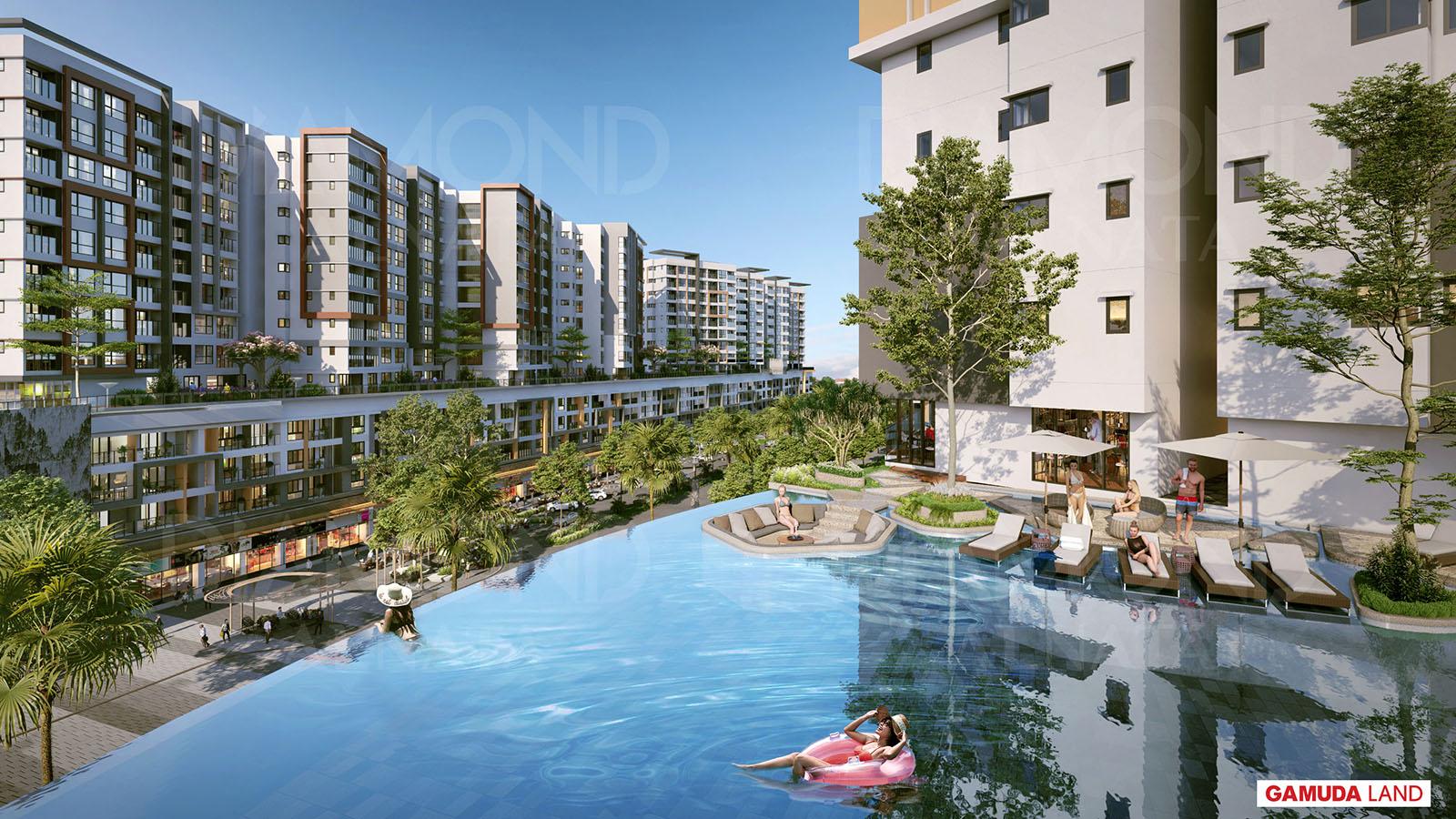 Khuôn viên dự án căn hộ Diamond Alnata Tân Phú