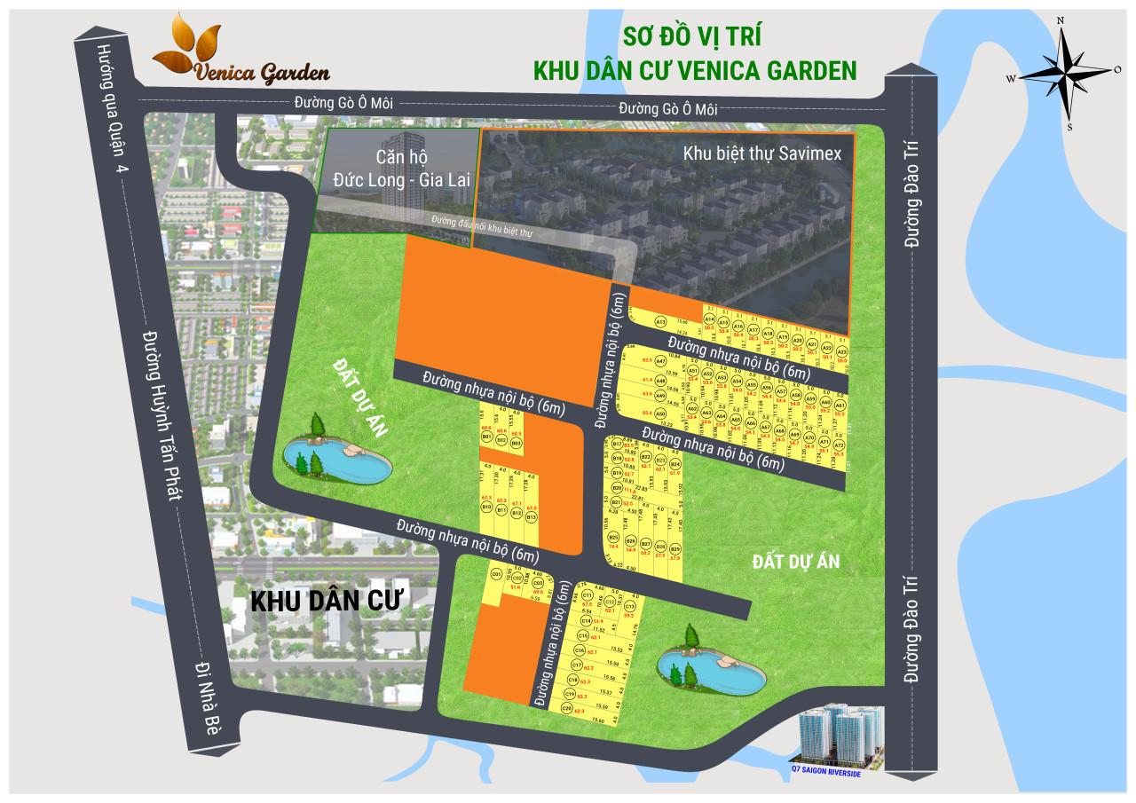 sơ đồ dự án Venica Garden quận 7