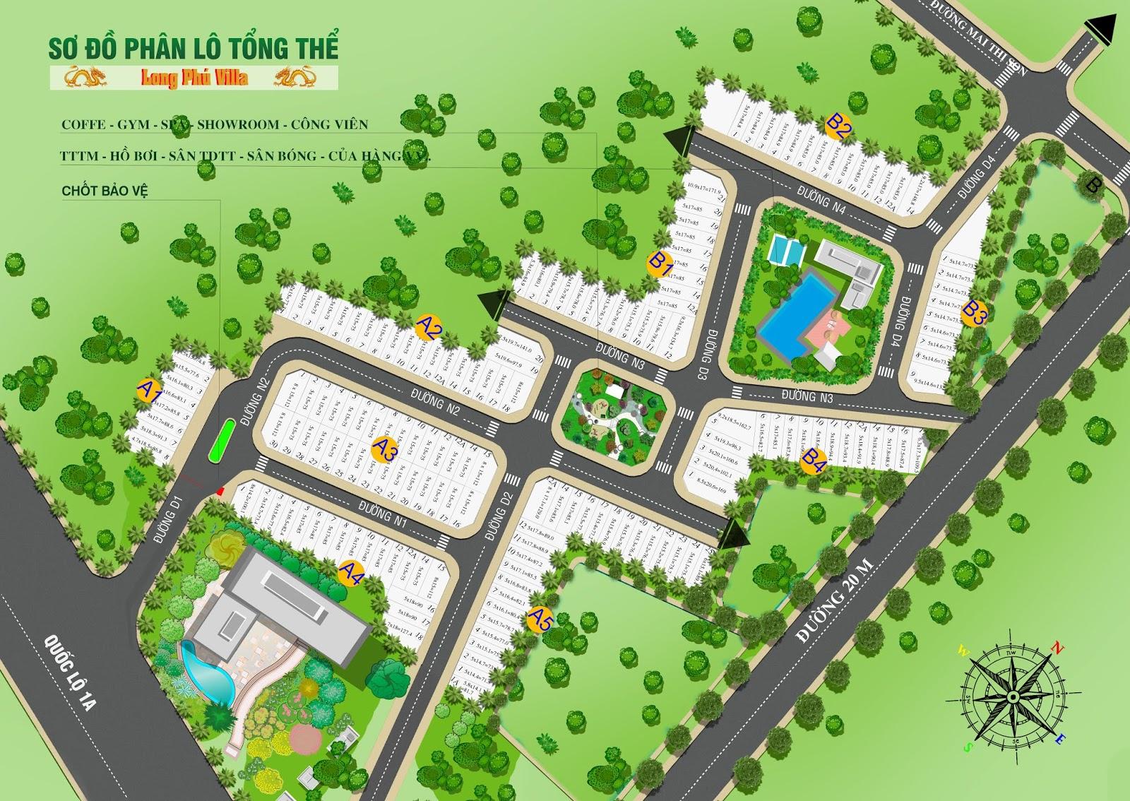 Mặt bằng khu dân cư Long Phú Residence Long An
