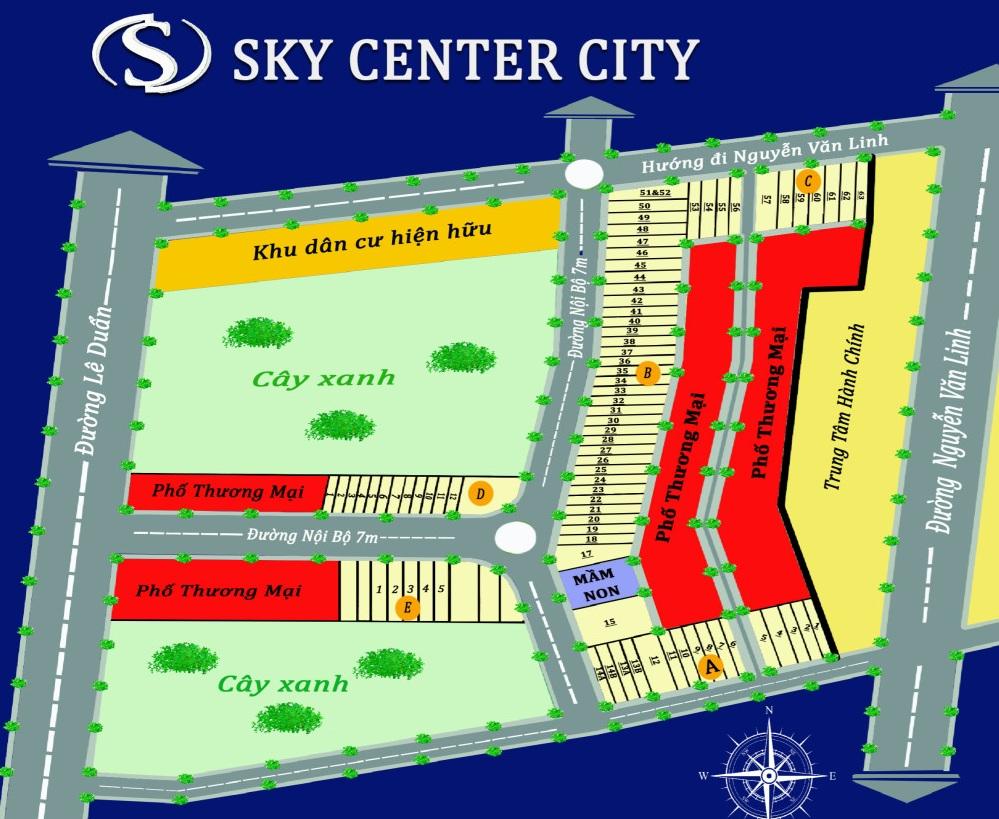 Mặt bằng phân lô dự án Sky Center City Chơn Thành