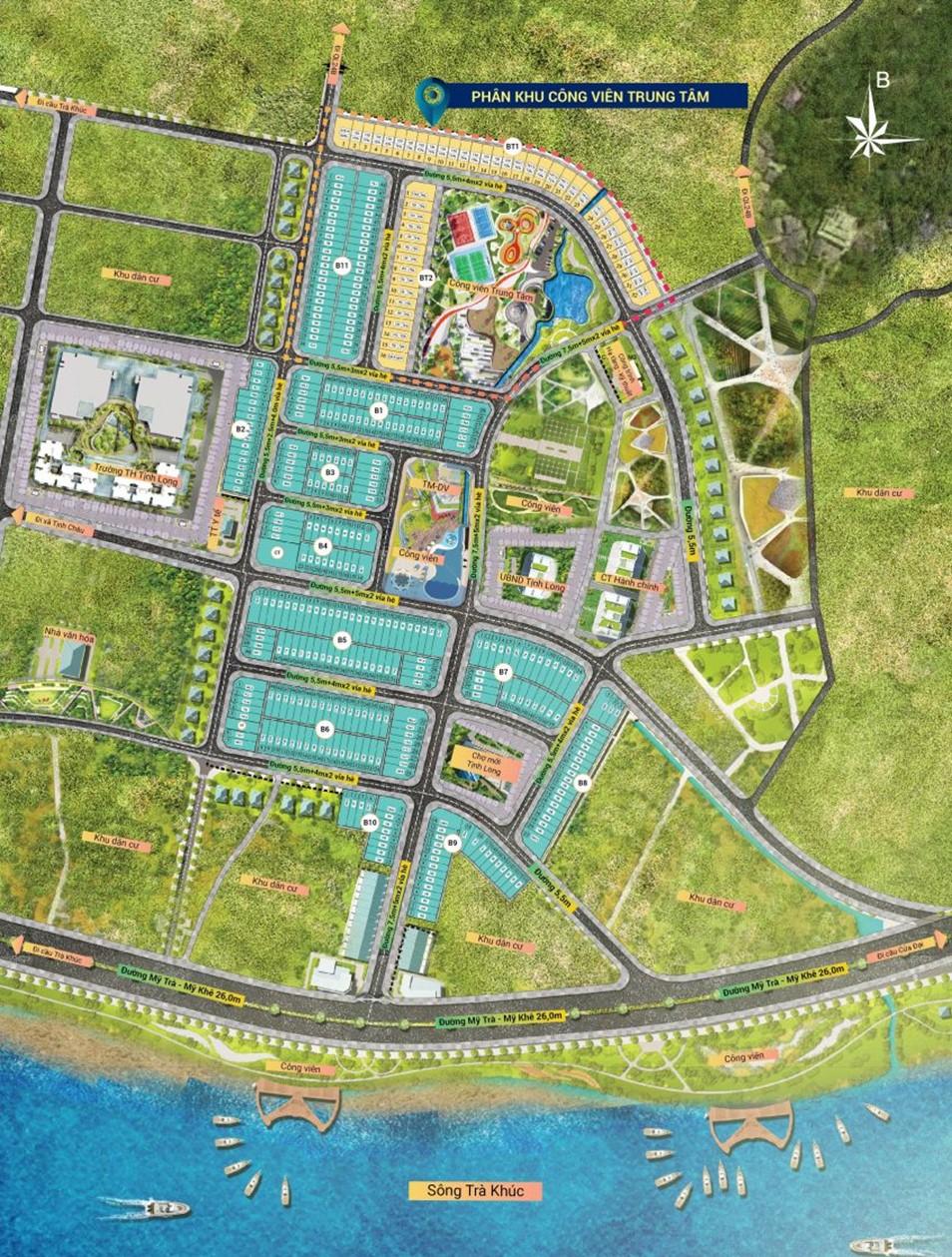 Mặt bằng tổng thể dự án Tăng Long Angkora Park Quảng Ngãi